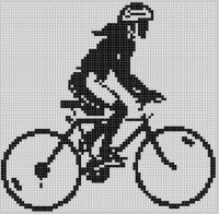 Cover for 'Mountain Bike Girl Cross Stitch Pattern'