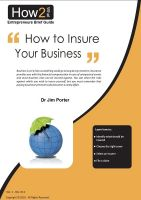 Cover for 'How to Insure Your Business'