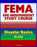 Cover for '21st Century FEMA Study Course: Disaster Basics (IS-292) - FEMA's Role, Emergency Response Teams (ERTs), Stafford Act, History of Federal Assistance Program'