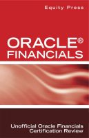 Cover for 'Oracle® Financials Interview Questions: Unofficial Oracle Financials Certification Review'