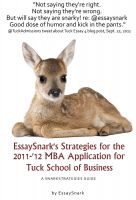 Cover for 'EssaySnark's Strategies for the 2011-'12 MBA Admissions Essays for Tuck School of Business'