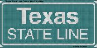 Cover for 'Texas State Line Cross Stitch Pattern'