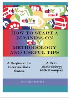 Cover for 'How to start a business on eBay: Methodology and Useful Tips'