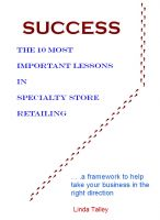 Cover for 'Success: The 10 Most Important Lessons in Specialty Store Retailing'