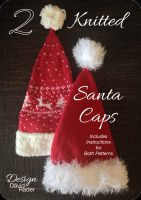 Cover for '2 Knitted Santa Caps'