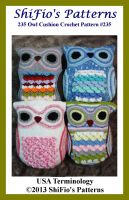 Cover for '235 Owl Cushion Crochet Pattern USA #235'