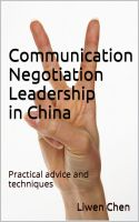 Cover for 'Communication,Negotiation and Leadership in China'