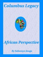 Cover for 'Columbus Legacy, African Perspective'