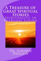 Cover for 'A Treasure of Great Spiritual Stories: Spirituality in Everyday Living'