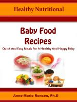Cover for 'Healthy Nutritional Baby Food Recipes'