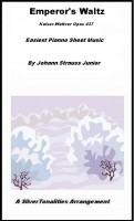 SilverTonalities Sheet Music Services - Emperor Waltz Kaiser Walzer Opus 437 Easiest Piano Sheet Music