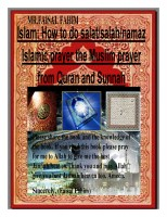 Islam: How to do salat/salah/namaz Islamic prayer the Muslim prayer from Quran a