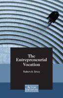 Cover for 'The Entrepreneurial Vocation'