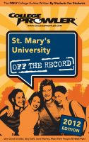 Cover for 'St. Mary's University 2012'