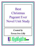 Cover for 'Best Christmas Pageant Ever Novel Unit Study'