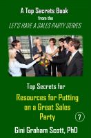 Cover for 'Top Secrets and Resources for Putting on a Great Sales Party'