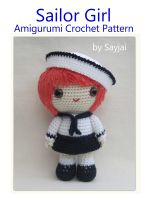 Cover for 'Sailor Girl Amigurumi Crochet Pattern'