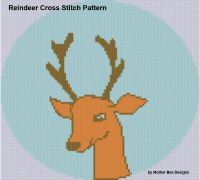 Cover for 'Reindeer Cross Stitch Pattern'