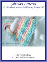 Cover for '42- Rainbow Matinee Baby Knitting Patterns #42'