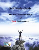 Cover for 'The Ten Commandments of Peak Performance Study Guide'