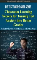 Cover for 'Classroom Learning Secrets for Turning Test Anxiety into Better Grades'
