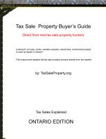 Cover for 'Ontario Tax Sale Property Buyer's Guide'