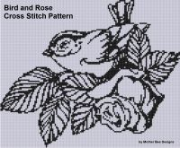 Cover for 'Bird and Rose Cross Stitch Pattern'