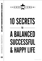 Cover for 'Ten Secrets To A Balanced Successful & Happy Life'
