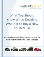 Cover for 'What You Should Know When Deciding Whether to Buy a New or Used Car'