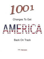 Cover for '1001 Changes To Get America Back On Track'