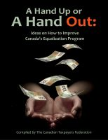 Cover for 'A Hand Up or a Hand Out: Ideas on How to Improve Canada's Equalization Program'