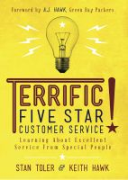 Cover for 'Terrific! Five Star Customer Service: Learning About Excellent Service From Special People'
