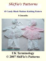 Cover for '45 Candy Blush Matinee Jacket Knitting Pattern #45'