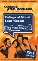 Cover for 'College of Mount Saint Vincent 2012'