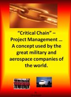 Cover for 'Critical Chain Project Management - A Concept Used By The Great Military and Aerospace Companies of The World.'