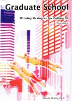 Cover for 'Graduate School: Winning Strategies For Getting In'