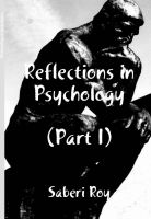 Cover for 'Reflections in Psychology - Part I'
