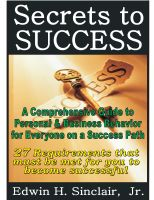Cover for '27 Secrets to Success: A Comprehensive Guide to Personal & Business Behavior for Anyone on the Success Track'