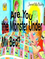 Cover for 'Are You The Monster Under My Bed?'