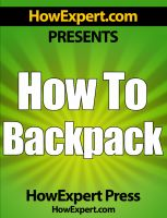 How To Backpack cover