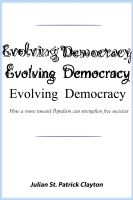 Cover for 'Evolving Democracy'