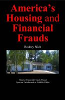 Cover for 'America's Housing and Financial Frauds'