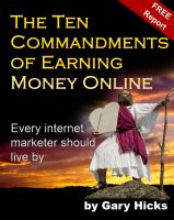 Cover for 'The Ten Commandments of Earning Money Online'