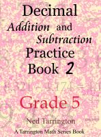 Cover for 'Decimal Addition and Subtraction Practice Book 2, Grade 5'