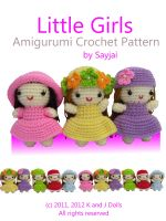 Cover for 'Little Girls Amigurumi Crochet Pattern'
