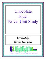 Cover for 'Chocolate Touch Novel Unit Study'