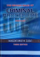 Cover for 'The Revised Rules of Criminal Procedure Annotated'