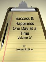 Cover for 'Success and Happiness, One Day at a Time. Volume IV'