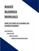 Cover for 'How To Start Up A Mobile Oil Change Business'