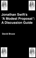 "Cover for 'Jonathan Swift's ""A Modern Proposal"": A Discussion Guide'"